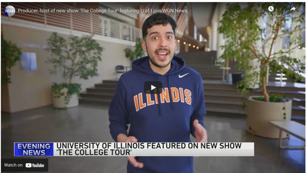 Producer, host of new show 'The College Tour' featuring U of I join WGN News